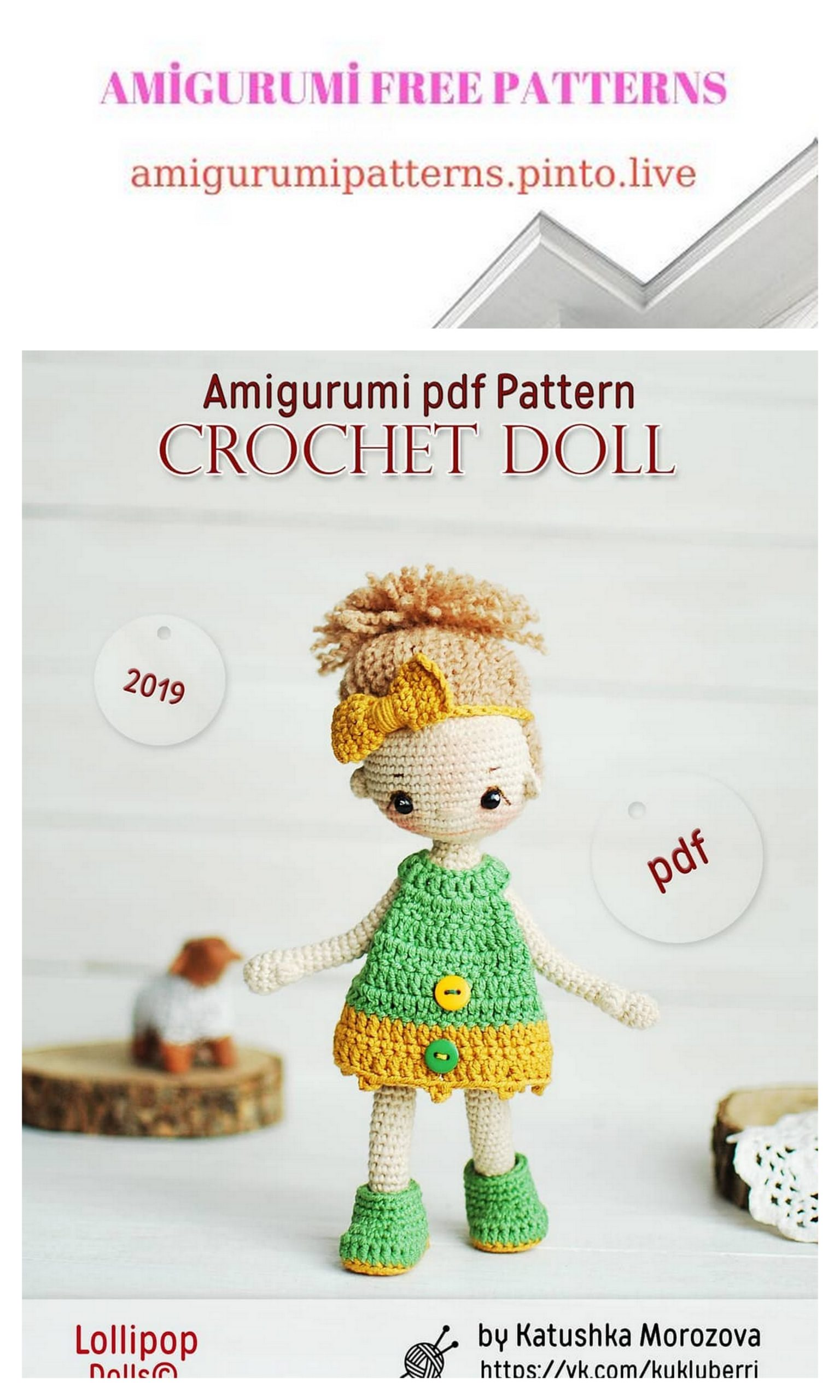 Sleepy Doll Amigurumi Free Crochet Pattern | 2560x1536