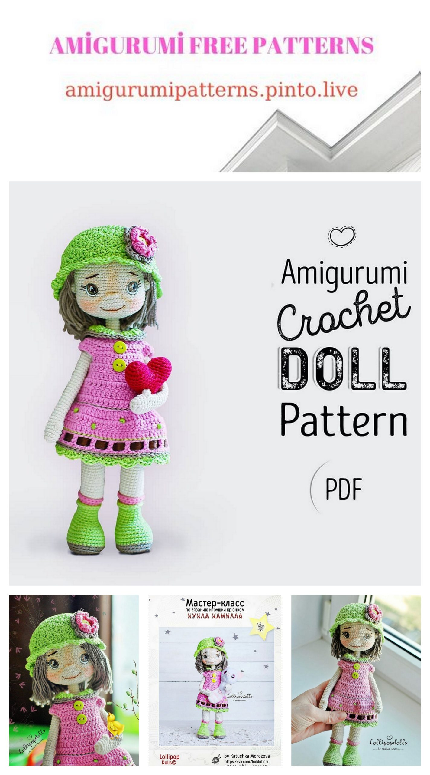 Basic Doll Body TUTORIAL // Amigurumi doll pattern - YouTube | 2560x1423